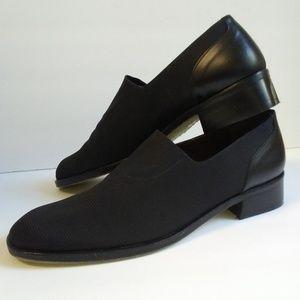 Donald J. Pliner Black Great Low Heel Fabric Shoe